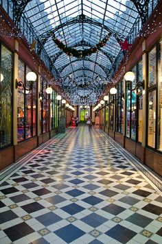 Passage des Princes, Paris. The ceiling lights are so beautiful.