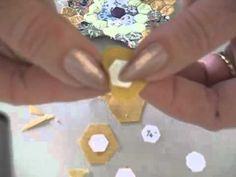 """Part One: How to sew miniature hexagon patchwork (1/4"""") demonstration"""