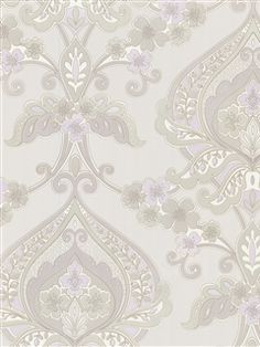 A lovely Lavender Damask Wallpaper from the book Zinc at AmericanBlinds.com #wallcovering