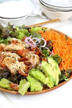 Bistro Chicken Salad with Garlic-Thyme Vinaigrette - Autoimmune Paleo