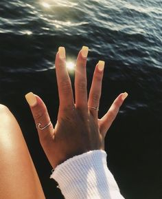 24 Minimalism Bright Yellow Nails for You in This Summer – Page 9 of 24 – Getbes… - Summer Nail Colors Ideen Aycrlic Nails, Cute Nails, Pretty Nails, Hair And Nails, Coffin Nails, Cute Short Nails, Cute Summer Nails, Toenails, Classy Nails