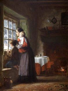 An Anxious Time ~ Frederick Daniel Hardy (1826 – 1911, English)
