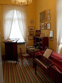 Felix Mendelssohn's study in Leipzig