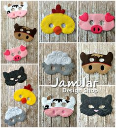 SET Dress Up BARNYARD MASK  6 Piece Set, pretend play for toddlers, preschool, kindergarten. Farm Animal Mask by JamJarDesignShop on Etsy https://www.etsy.com/listing/222845654/set-dress-up-barnyard-mask-6-piece-set