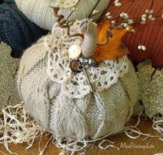 more Sweater Pumpkins Sweater Pumpkins, Fall Pumpkins, Easter Bunny Decorations, Halloween Decorations, Fabric Pumpkins, Fabric Ribbon, Crochet Patterns Amigurumi, Free Sewing, Fall Crafts