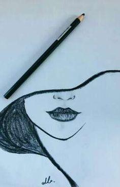 Drawing, 2019 dibujar arte, dibujos a lápiz ve cosas de dibujo. Easy Pencil Drawings, Cool Art Drawings, Drawing Sketches, Drawing Ideas, Drawing Tips, Tumblr Drawings Easy, Sketch Ideas, Pictures For Drawing, Cartoon Drawings