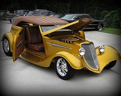Golden Ford Phaeton