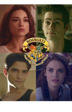 Teen Wolf Harry Potter Hogwarts Houses #Allison #Stiles #Scott #Lydia @mirandacazier