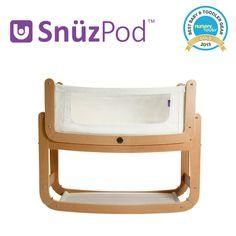 SnuzPod Bedside Crib Natural | Bedside Cots | The Little Green Sheep