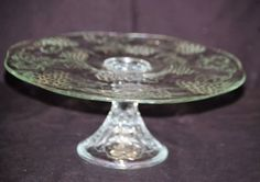 Clear Glass Pedestal Cake Plate Stand. with Embossed Fruit Designs. Kitchen Tool Decor. | eBay!