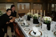 "Table Decor: From the 2nd Annual Perfect Setting Tabletop Challenge, presented by Presented by #Yacht Next at the 2009 Fort Lauderdale International Boat Show. 3rd Place Winners in the ""Putting on the Ritz"" category, yacht stewardesses Gina Loesby and Sarah Harvey, of M/Y ""Zelda."""