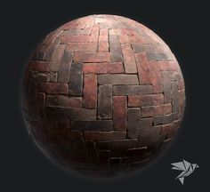 High-Quality PBR Industrial Herringbone Brick , Mark Ranson on ArtStation at https://www.artstation.com/artwork/59X1A