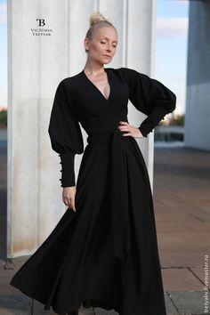 Купить Платье/платье длинное/платье в пол - чёрный, платье, платье в пол, платье вечернее, Платье нарядное