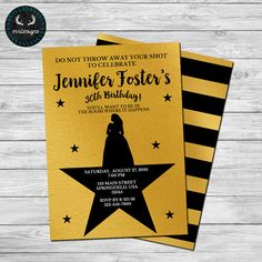 Hamilton Party Invitation by ERRdesigns. Purchase Options For Digital: Front Only: 2-3 Business Days Front Only - Rush: 24 Hours Front &…