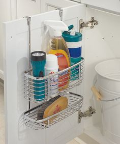Two-Tier Over-the-Cabinet Storage Basket by InterDesign #zulily #zulilyfinds