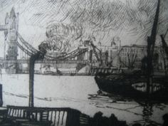 Detail from etching by William Washington, 'Greenwich, London Greenwich London, Washington, British, Detail, Painting, Art, Art Background, Painting Art, Kunst