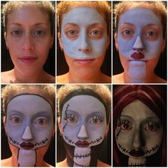 The Nightmare Before Christmas makeup transformation - Imgur
