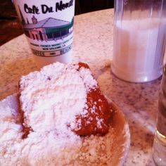Cafe du Monde beignets! Beignets, Nom Nom, Sugar, Fritters