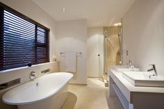 Wouldn't mind relaxing in this bathroom at the end of a long day Mind Relaxation, Home Deco, Beach House, Tiles, Bathrooms Decor, Bathtub, Furniture Ideas, Inspiration, Photos