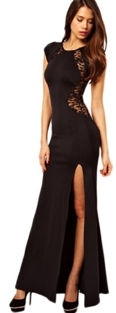 Cheap lace long dress, Buy Quality dresses to wear to a spring wedding directly from China lace tassel Suppliers: New 2017 Summer Style Long Dress Robe Longue Femme Sexy Bodycon Red/Black Lace dress For Party/Club Big Size S-XXL Lace Dress, Dress Up, Wrap Dress, Bodycon Dress, Dress Long, Slit Dress, Club Dresses, Formal Dresses, Party Dresses