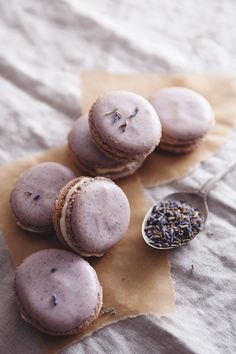 Lavender Macarons with Honey Buttercream