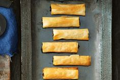 These crunchy lamb mince cigars are perfect for summer entertaining.