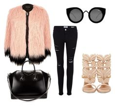 """""""Untitled #5"""" by closetrevamp on Polyvore featuring River Island, Frame Denim, Giuseppe Zanotti, Givenchy and Quay"""