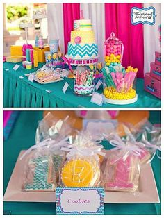 Kara's Party Ideas Chevron Print Summer 1st Birthday Party | Kara's Party Ideas