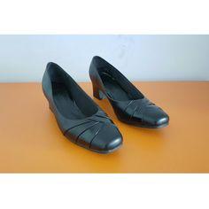 Comfort Plus Black Faux Leather Womens Shoe, check out our depop shop