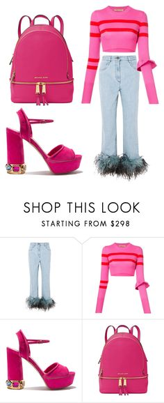 """""""Untitled #63"""" by bettina-agoston on Polyvore featuring Prada, Maggie Marilyn, Casadei and Michael Kors"""