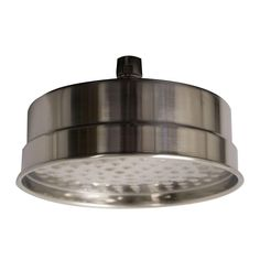 Whitehaus Collection Showerhaus 1-Spray 8 in. Showerhead in Brushed Nickel