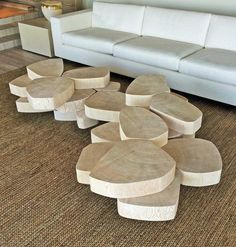 Ring Table Coffee Table by Stefan Bishop Unique Furniture, Table Furniture, Furniture Design, Multipurpose Furniture, Coffe Table, Furniture Inspiration, Wood Table, Diy Home Decor, Interiors