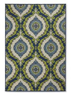 An amazing combination of Mediterranean style and durability, the Cayman Enzo Area Rug accents any space perfectly and is available in four shapes.