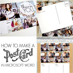 Make post cards in Microsoft Word! No special software required!