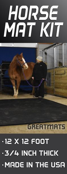 Horse Stall Mats Cascade 3/4 Inch 12x12 Ft Kit - It doesn't much better. Plus it's Made in the USA!