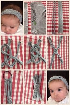 Comment Faire Headband- Tuto et Idées Hair Knot Tutorial, Baby Headband Tutorial, Diy Baby Headbands, How To Make Headbands, Diy Hair Bows, Baby Bows, Crochet Headbands, Flower Tutorial, Baby Turban