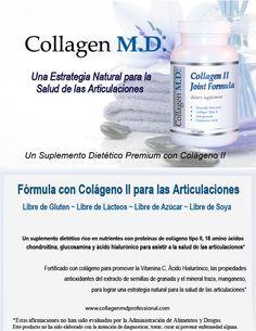 Libre de lácteos Collagen M.D.® - Colágeno tipo 2 - Fórmula con Colágeno II para las Articulaciones Suplemento Dietético Profesional #SuplementoDietéticoProfesional #SinGluten #Colágenotipo2 #LibreDeGluten #LibreDeLácteos #LibreDeSoya