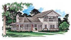 Country   Farmhouse  Victorian   House Plan 95253