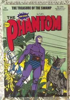 The Phantom Comic Book - The Treasure Of The Swamp 36 pages Comic Book Superheroes, Marvel Comic Books, Marvel Comics, Phantom Comics, Ghost Walk, Old Comics, Gothic Steampunk, Comic Book Covers, Great Pictures