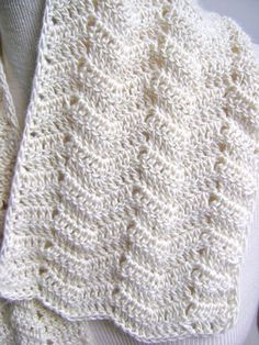 Lacy Crochet Scarf Pattern Easy Beginner by sheilalikestoknit