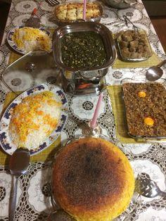 Beautiful #Persian dinner by my talented friend Roya M.