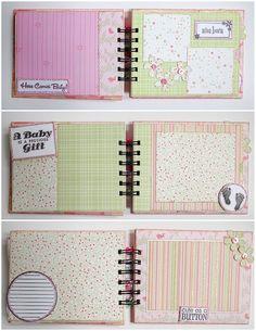 Scrapbook Mini Album - Baby Girl