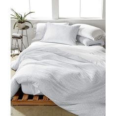 Calvin Klein Modern Cotton Print Full/Queen Duvet Cover ($160) ❤ liked on Polyvore featuring home, bed & bath, bedding, duvet covers, primal gray, gray modern bedding, knit bedding, gray bedding, calvin klein and cotton bedding
