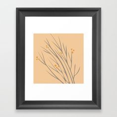 RANTING FRAMED ART PRINT $35.99 Add depth and texture to your Framed Art Print with a wood scoop frame. Our Framed Prints provide a contemporary aesthetic that looks awesome by itself or as part of a gallery wall. #society6 #TUNiDE  #twigs #nature #pattern #art #artwork #frame #color #colorful #peach #pink #autumn  #modern #homedecor #decoration #inspiration