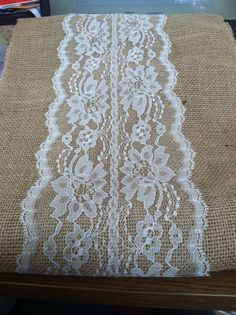 Burlap & Lace Table Runner with a Variety of by RubyDesignDecor, $15.00