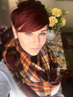 16.Red Pixie Hair