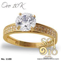 Anillo de compromiso oro 14k RD$3,600