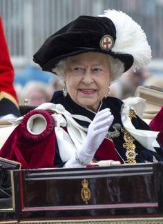 Queen Elizabeth, June 16, 2014 Most Nobel Order of the Garter Ceremony