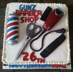 Barber Shop Cake