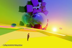 metaphysical surreal picture of a landscape with a human #surreal #surrealism #surrealart